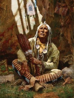Holy Man of the Blackfoot 1997 Limited Edition Print - Howard Terpning