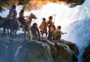 Force of Nature Humbles All Men 2004 Limited Edition Print - Howard Terpning