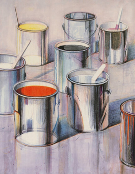 paint cans 1990 by wayne thiebaud