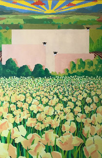 Blossoming Dawn 1988 38x52 (Early) Original Painting - Mackenzie Thorpe