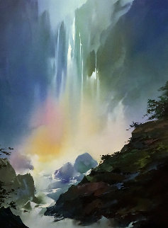 Mystic Falls 1991 42x57 Original Painting by Thomas Leung