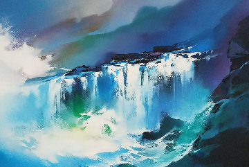 Hawaiian Surf 2003 40x28 Original Painting - Thomas Leung