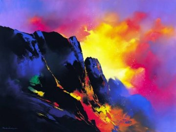 Lava's Descent Embellished Limited Edition Print - Thomas Leung