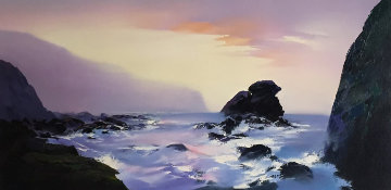 Shell Beach 24x48 Original Painting by Thomas Leung