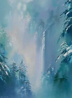 Winter Splendor 48x36  Original Painting - Thomas Leung
