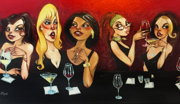 These Girls Are Better Off in My Head Embellished  2011 Limited Edition Print by Todd White