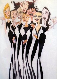 Girl Party 2005 Embellished Limited Edition Print - Todd White