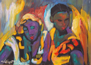 Cousins 1988 11x15 Original Painting - William Tolliver