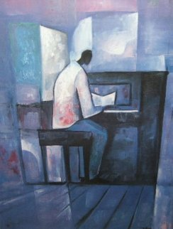 Piano Player 1991 Limited Edition Print - William Tolliver