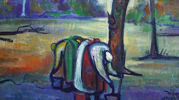 Untitled Early Landscape 1987 24x30