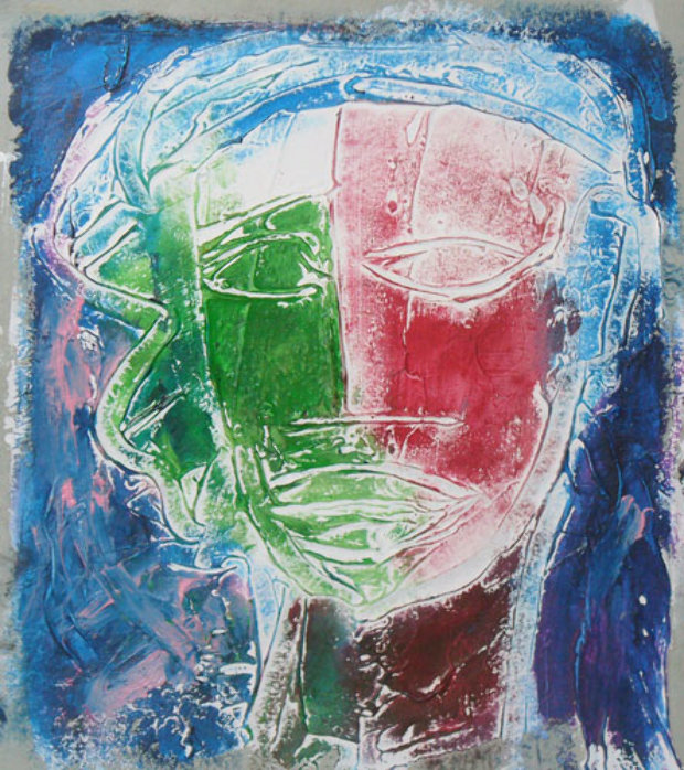 Untitled Oil on Paper 1995 10x8