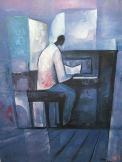 Piano Player 1990 Limited Edition Print - William Tolliver