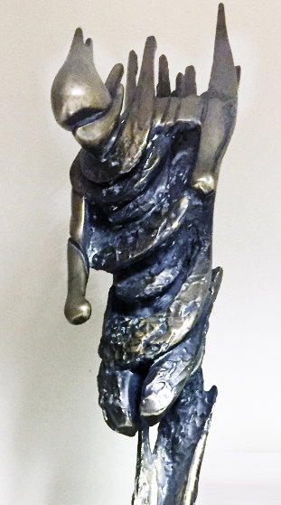 Downhill Racer Life Size Bronze Sculpture 1980 72 in