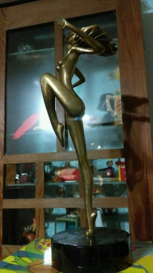 Whimsical Bronze Sculpture 1986 15 in