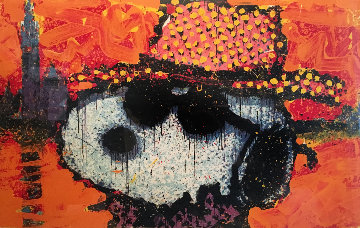 A Guy in a Sharkskin Suit Wearing a Rhinestone Hat atTwilight 2000 Limited Edition Print - Tom Everhart