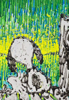 Coconut Couture - Snoopy And  Woodstock 2012 21x16 Original Painting - Tom Everhart