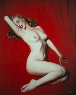 Marilyn Monroe Red Velvet 1949 Limited Edition Print - Tom Kelley