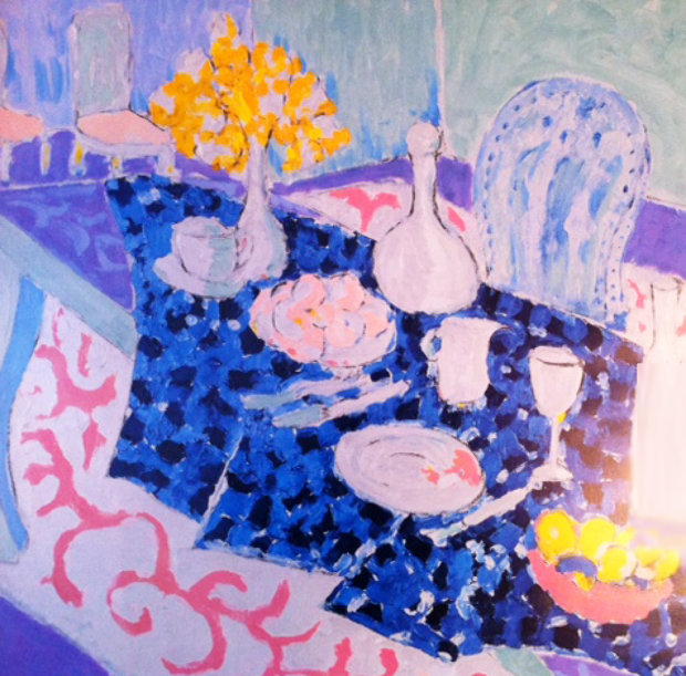 Table Set with Yellow Flowers 1987 29x24
