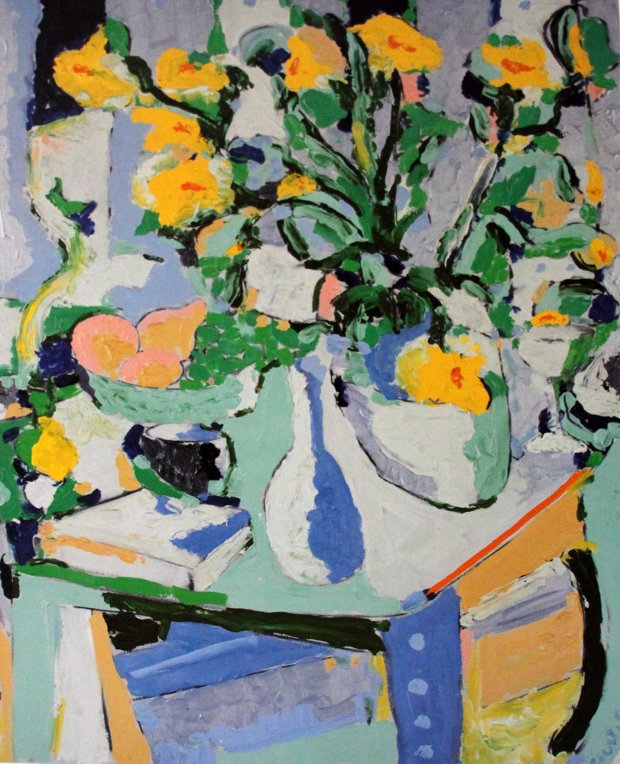 Yellow Flowers With Fruit 1987