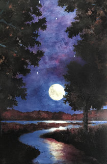 Moonrise  AP 2003 Limited Edition Print by Gwen Toomalatai
