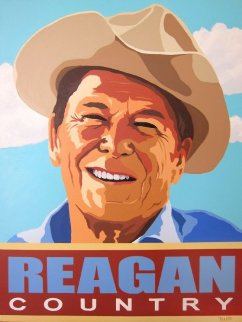 Reagan Country 40x30 Original Painting - Bill Tosetti