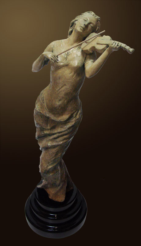Muse Bronze Sculpture 2010 26 in