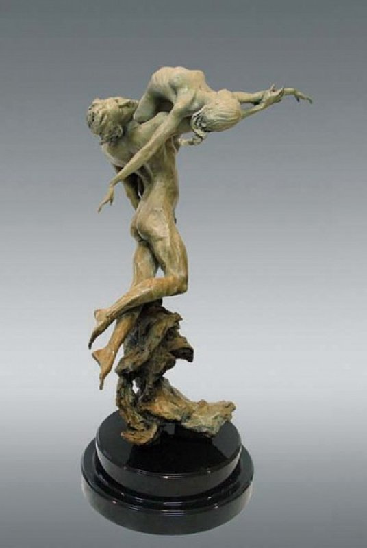 Rhapsody Bronze Sculpture 2000 25 in