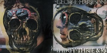 Skull Unique on Album Cover  2012  22x34 Original Painting - Peter Tunney