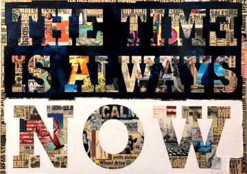 Time is Always Now 2013 48x60 Original Painting - Peter Tunney