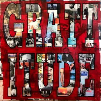 Grattitude 2013 48x48 Original Painting - Peter Tunney