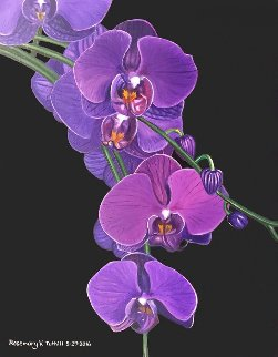 Violet Orchids 2016 Limited Edition Print - Rosemary Vasquez Tuthill