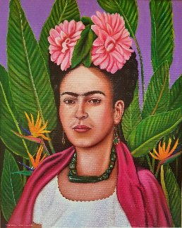 Frida Kahlo in Floral 2017 Limited Edition Print - Rosemary Vasquez Tuthill