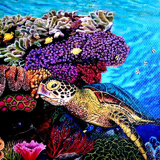 Honu - Green Sea Turtle 2017 Limited Edition Print - Rosemary Vasquez Tuthill