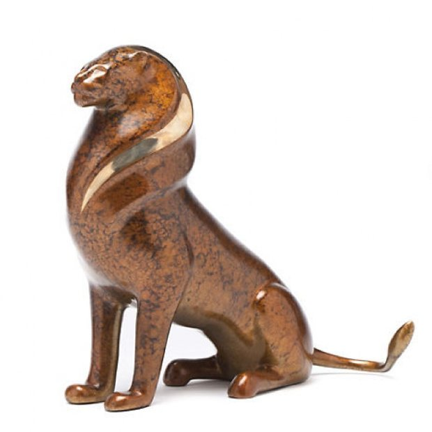 Serengeti Lion Bronze Scupture 13 in