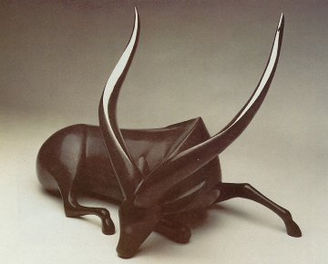 Bongo Large Bronze Sculpture 27 in Sculpture - Loet Vanderveen