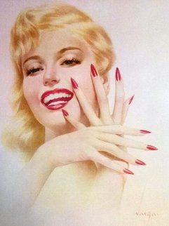 Marilyn Monroe, Fingernails and Nita Naldi, 2 Prints 1940 Limited Edition Print - Alberto Vargas