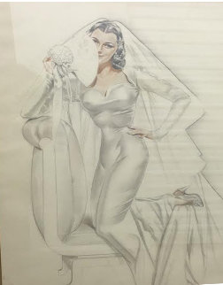 Bridal Vision, Study Watercolor 1948 Watercolor - Alberto Vargas