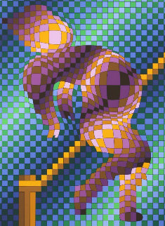 Harlequin Sportif 1988 Limited Edition Print - Victor Vasarely