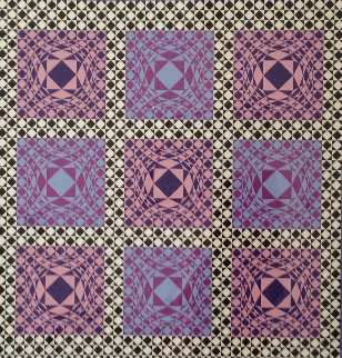Jatek 1986 Limited Edition Print - Victor Vasarely