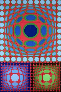 Tri-Vega 1983 Limited Edition Print - Victor Vasarely