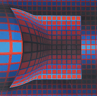 Optical Cube AP 1975 Limited Edition Print by Victor Vasarely