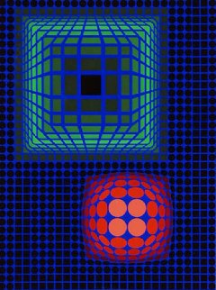 Circle Square 1972 Limited Edition Print - Victor Vasarely