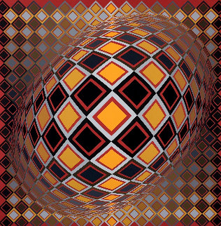 Teke 1970 Limited Edition Print - Victor Vasarely