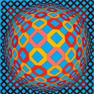 Bez Tzyulur 1974 Limited Edition Print - Victor Vasarely