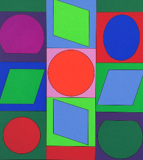 Zaphir 1970 Limited Edition Print - Victor Vasarely