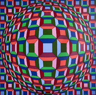 Untitled Op Art: Helios Suite EA 1981 Limited Edition Print - Victor Vasarely