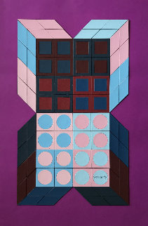 Untitled - Mauve 1985 37x25 Works on Paper (not prints) - Victor Vasarely