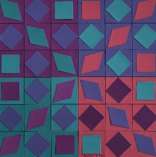 Szinkep 1990 8x8 Works on Paper (not prints) - Victor Vasarely
