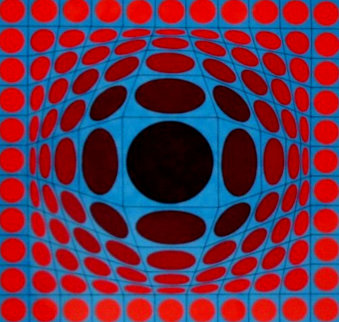 Ives 1970 Limited Edition Print - Victor Vasarely