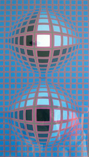 Untitled Serigraph 1974 Limited Edition Print - Victor Vasarely